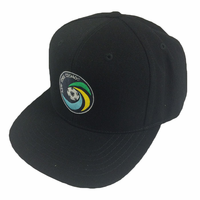 New York Cosmos Classic Wool Primary Snapback Hat - Black