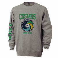 New York Cosmos EST. 1971 Crew Neck Sweatshirt-Grey