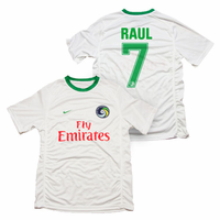 New York Cosmos Nike Adult Raul #7 Authentic Home Jersey Kit - White<br>-Please Allow 2-3 Weeks to Ship