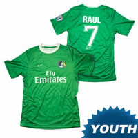 New York Cosmos Nike Youth Raul #7 Authentic Away Jersey Kit - Green<br>-Please Allow 2-3 Weeks to Ship