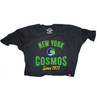 New York Cosmos Sportiqe Women's Marshall 3/4 Sleeve Tee - Black
