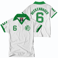 New York Cosmos Tailgate Beckenbauer Short Sleeve Throwback Jersey - White