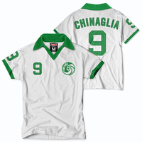 New York Cosmos Tailgate Chinaglia Short Sleeve Throwback Jersey - White