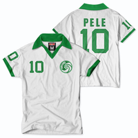 New York Cosmos Tailgate Pele Short Sleeve Throwback Jersey - White