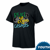 New York Cosmos Youth Peace Love Cosmos Tee - Black