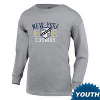 New York Cosmos Youth Long Sleeve Shield Tee - Oxford