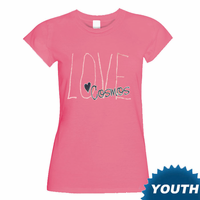 """New York Cosmos Youth """"Love Cosmos"""" Short Sleeve Tee-Pink"""