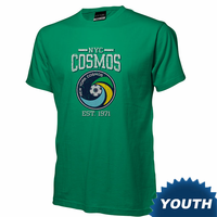 New York Cosmos Youth Short Sleeve EST. 1971 Logo Tee-Green