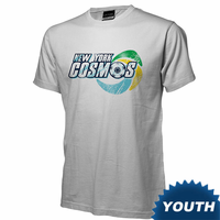 New York Cosmos Youth Soccer Ball Tee-White