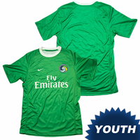 New York Cosmos Nike Youth Replica Away Jersey Kit - Green <br><b><i>Available with custom player name and number!</i></b>