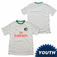 New York Cosmos Nike Youth Replica Home Jersey Kit - White <br><b><i>Available with custom player name and number!</i></b>
