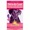 Healthy Skin & Coat for Dogs, 60 Delicious Chewable Tablets, Renew Life