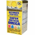 Norwegian Gold, Ultimate Fish Oils, Super Critical Omega, 1200 mg, 30 Fish Gels, Renew Life