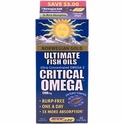 Ultimate Fish Oils, Critical Omega, Natural Orange Flavor, 1200 mg, 60 Fish Gels, Renew Life