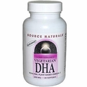 Vegetarian DHA, 200 mg, 120 Softgels, Source Naturals