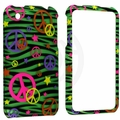 Apple iPhone 3G & 3GS Colorful Peace on Green Zebra Cover