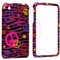Apple iPhone 3G & 3GS Colorful Peace on Pink Cover