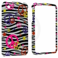Apple iPhone 3G & 3GS Colorful Peace on Zebra Cover