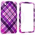 Apple iPhone 3G & 3GS Pink Purple Diagonal Checker Cover