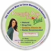 Three Lollies Preggie Pop Drops Plus w/VB6 for Morning Sickness Relief
