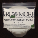 Grow More Organic Fruit Fuel, 4.5-pound pail
