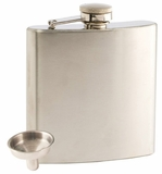 6oz Stainless Steel Flask with Funnel