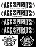 Ace Spirits Stickers- Sheet of 6