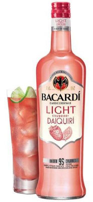 Bacardi Light Cocktails Strawberry Daiquiri 1.75L