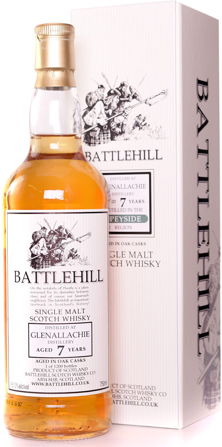 Battlehill Glenallachie 7 Year Old Single Malt Whisky