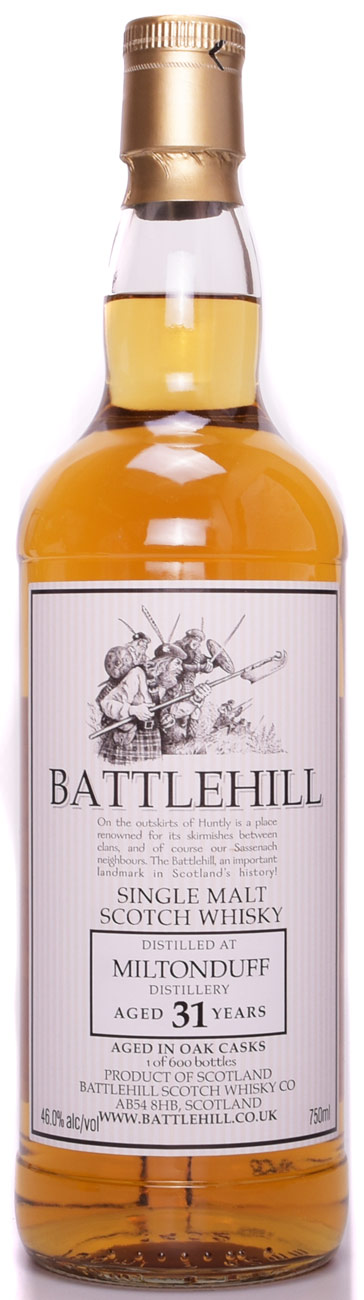 Battlehill Miltonduff 31 Year Old Single Malt Scotch