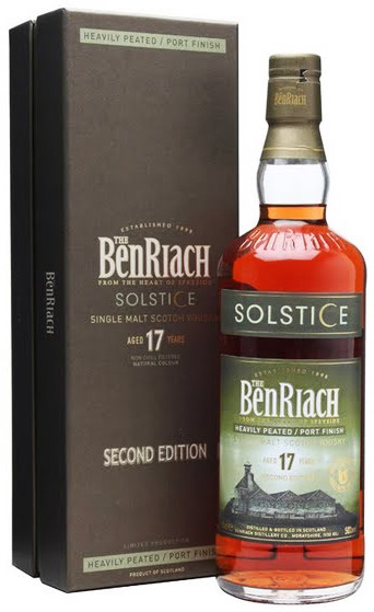 Benriach Solstice Heavily Peated Port Finished 17 Year Old Single Malt Scotch