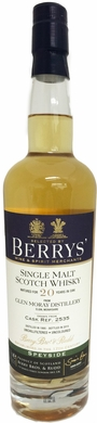 Berrys' Glen Moray 20 Year Old Single Malt Scotch 1995