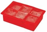 "Colossal Ice Cube Tray 2"" Cubes- Red"
