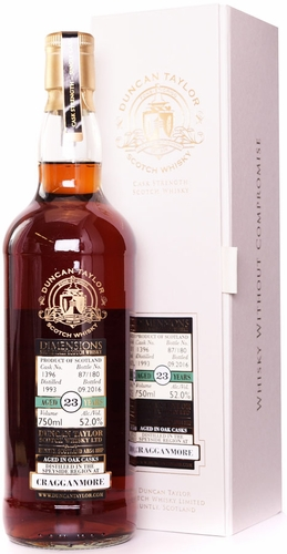 Duncan Taylor Dimensions Cragganmore 23 Year Old Single Malt Whisky 1993