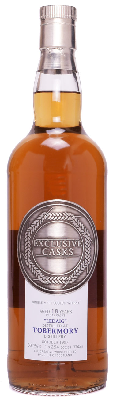 Exclusive Casks Ledaig Distilled at Tobermory 18 Year Old 1997