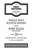 First Editions Port Ellen 31 Year Old Single Malt Scotch