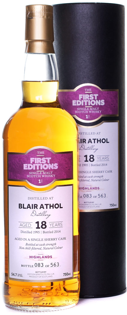 First Editions Blair Athol 18 Year Old Single Malt Scotch 1995