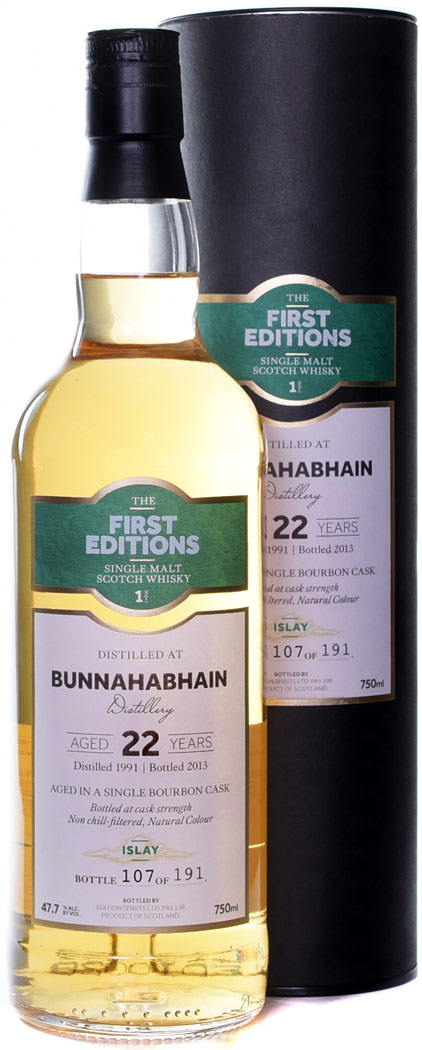 First Editions Bunnahabhain 22 Year Old Single Malt Scotch 1991