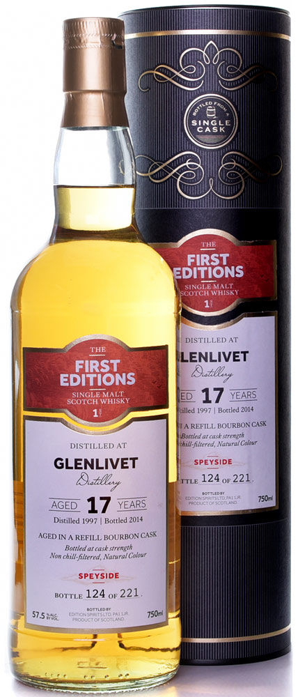 First Editions Glenlivet 17 Year Old Single Malt Scotch 1996