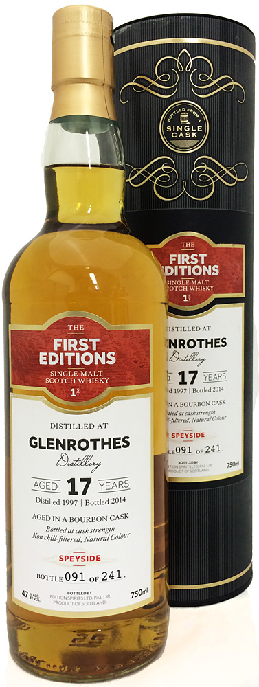 First Editions Glenrothes 17 Year Old Single Malt Scotch 1997