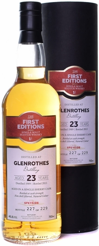 First Editions Glenrothes 23 Year Old Single Malt Scotch 1989