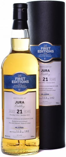 First Editions Isle of Jura 21 Year Old Single Malt Scotch 1992