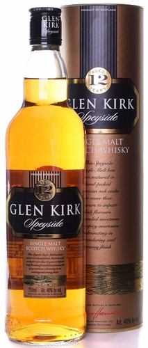 Glen Kirk Speyside 12 Year Old Single Malt Scotch