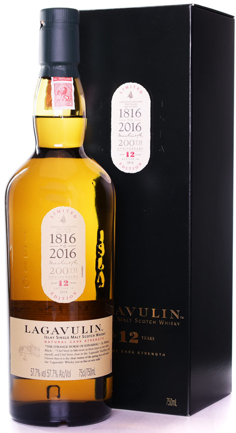 Lagavulin 12 Year Old Cask Strength Single Malt Scotch 2015