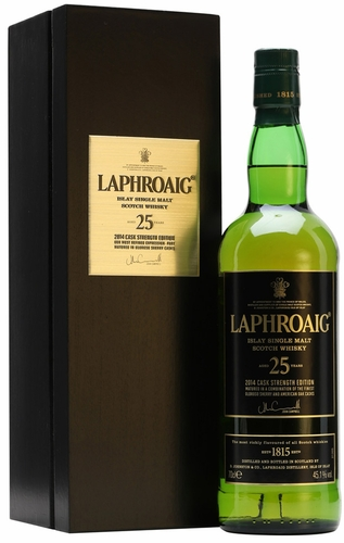 Laphroaig 25 Year Cask Strength Single Malt Scotch 2014