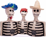 Los Azulejos Skelly Tequila Three Pack- Blanco, Repo & Anejo