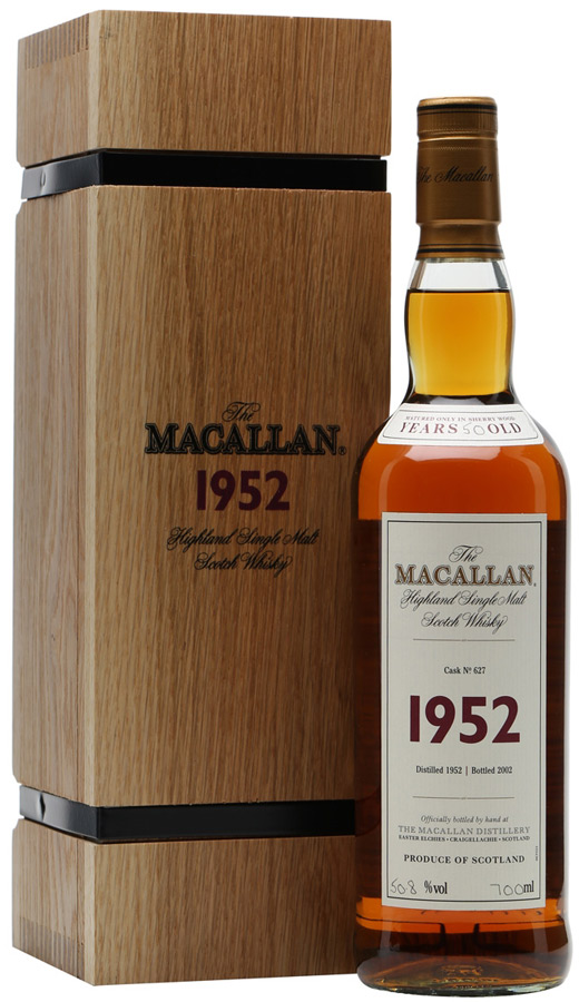Macallan 1952 Fine & Rare 50 Year Old Single Malt Scotch