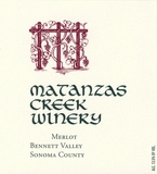 Matanzas Creek Bennett Valley Merlot 2012