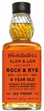 Slow & Low Rock & Rye 8 Year Old 100 Proof Whiskey