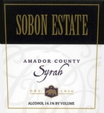 Sobon Estate Syrah (case of 12)